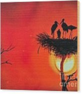 Sunset Home Wood Print