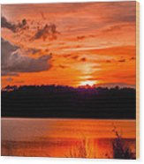 Sunset Huntington Beach State Park Wood Print