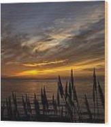 Sunset Hwy. 1calif. Wood Print