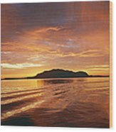 Sunset In Alesund Wood Print by Christine Rivers