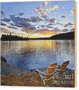 Sunset In Algonquin Park Wood Print