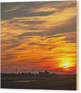 Sunset In Avalon Wood Print