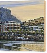 Sunset In Cape Town Wood Print