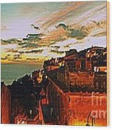 Sunset In Capoliveri - Toscany Wood Print