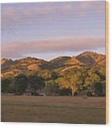 Sunset In Carmel Valley California Wood Print