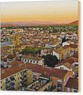 Sunset In Cavaillon Wood Print