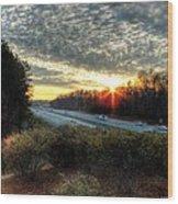 Sunset In Charlotte #3 Wood Print