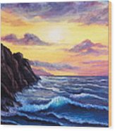 Sunset In Colors Wood Print