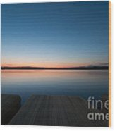 Sunset In Croatia Wood Print