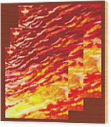 Sunset In Desert Abstract Collage  Wood Print