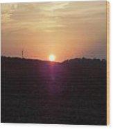 Sunset In East Tn Wood Print