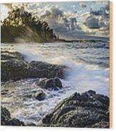 Big Island - Sunset In Hilo Wood Print