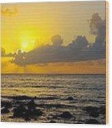 Sunset In Kauai Wood Print
