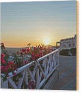 Sunset In Kos Island Wood Print