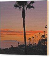 Sunset In Laguna Beach Wood Print