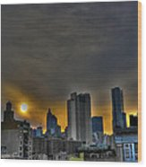 Sunset In Manhattan's Lower East Side Wood Print
