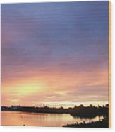 Sunset In Marathon Key Wood Print