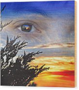 Sunset In My Eyes Wood Print