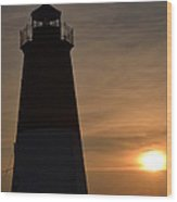 Sunset In Narragansett Ri Wood Print