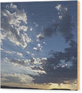 Sunset In New Mexico Wood Print