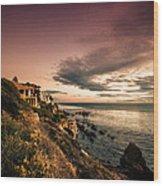 Sunset In Newport Beach Wood Print