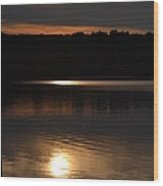 Sunset In North Providence Ri Wood Print