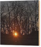 Sunset In Olde Town Wood Print