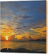 Sunset In Paradise - Beach Photography By Sharon Cummings Wood Print by Sharon Cummings