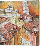 Sunset In Pisa Wood Print