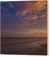 Sunset In Playa Encanto Wood Print