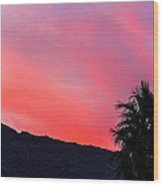 sunset in PS Wood Print