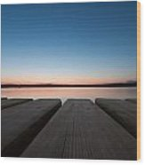 Sunset In Pula Wood Print