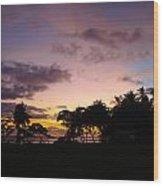 Sunset In Punta Banco Wood Print