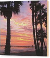 Sunset In San Clemente Wood Print