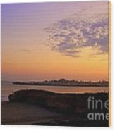 Sunset In Santa Cruz California  Wood Print by Garnett  Jaeger