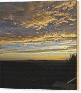 Sunset In Taos Wood Print