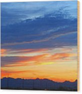 Sunset In The Black Mountains Wood Print
