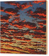 Sunset In The Clouds Wood Print