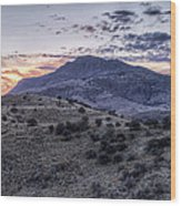Sunset In The Davis Mountains Wood Print