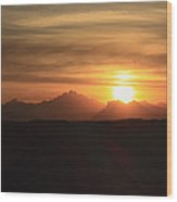 Sunset In The Eastern Desert Sahara Egypt Wood Print