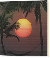 Sunset In The Keys Wood Print