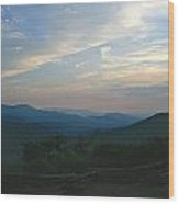 Sunset In The Mountans Wood Print