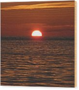 Sunset In The Sea Wood Print