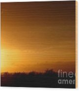 Sunset In The South Of France Wood Print