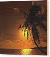 Sunset In The South Pacific Wood Print