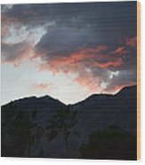 Sunset In The Valley Wood Print