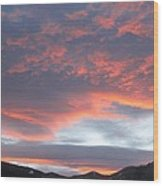 Sunset In Vail Colorado Wood Print