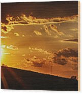 Sunset In Vernon County Wood Print