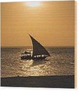 Sunset In Zanzibar Wood Print