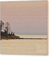 Sunset Into A Peaceful Life Wood Print